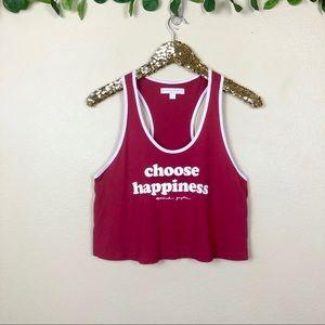 Spiritual Gangster • Choose Happiness Crop Tank